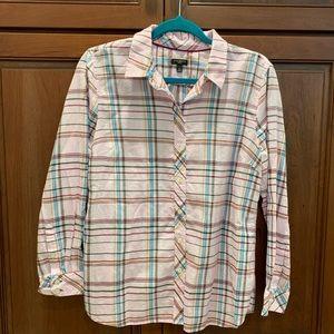 Talbots button down plaid shirt